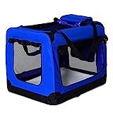 dibea Hundetransportbox Hundetasche Hundebox Faltbare Kleintiertasche Größe M Farbe Blau